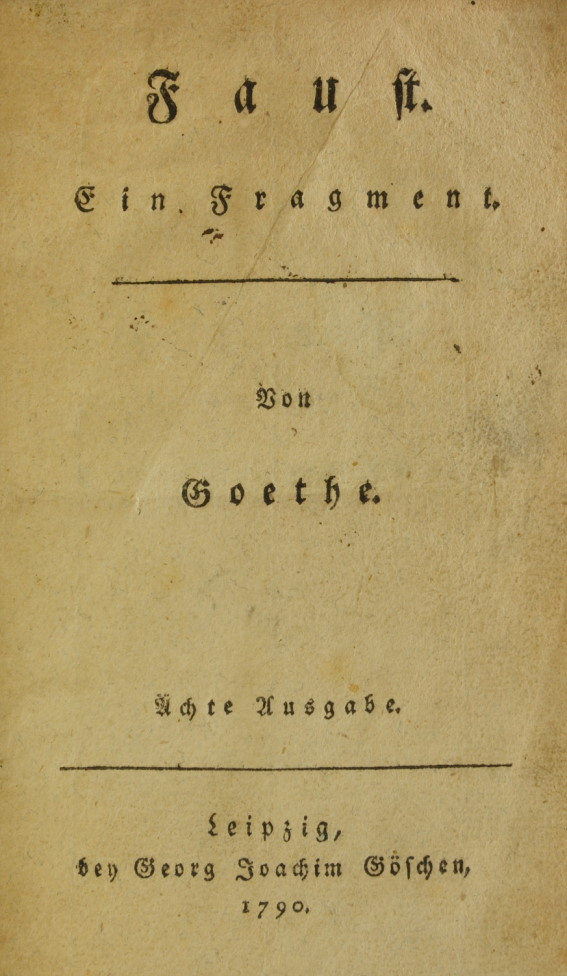 a literary analysis of the play faust by johann goethe Methods of literary analysis literary can someone explain this famous 'faust' (goethe) because many people claim this is a very important part of the play.