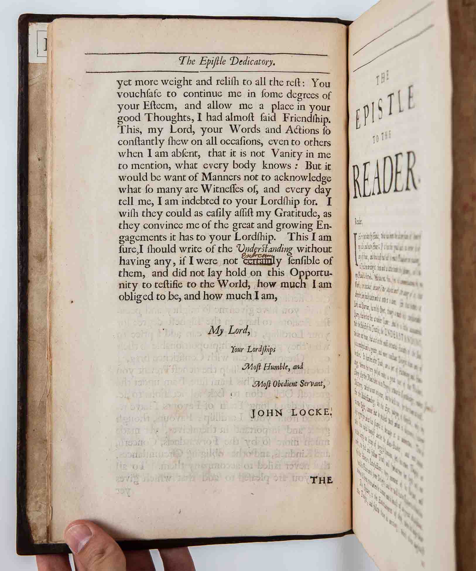 john lockes essay concerning human understanding John locke, \of identity and diversity chapter xxvii of an essay concerning human understanding, 2nd ed available on project gutenberg.