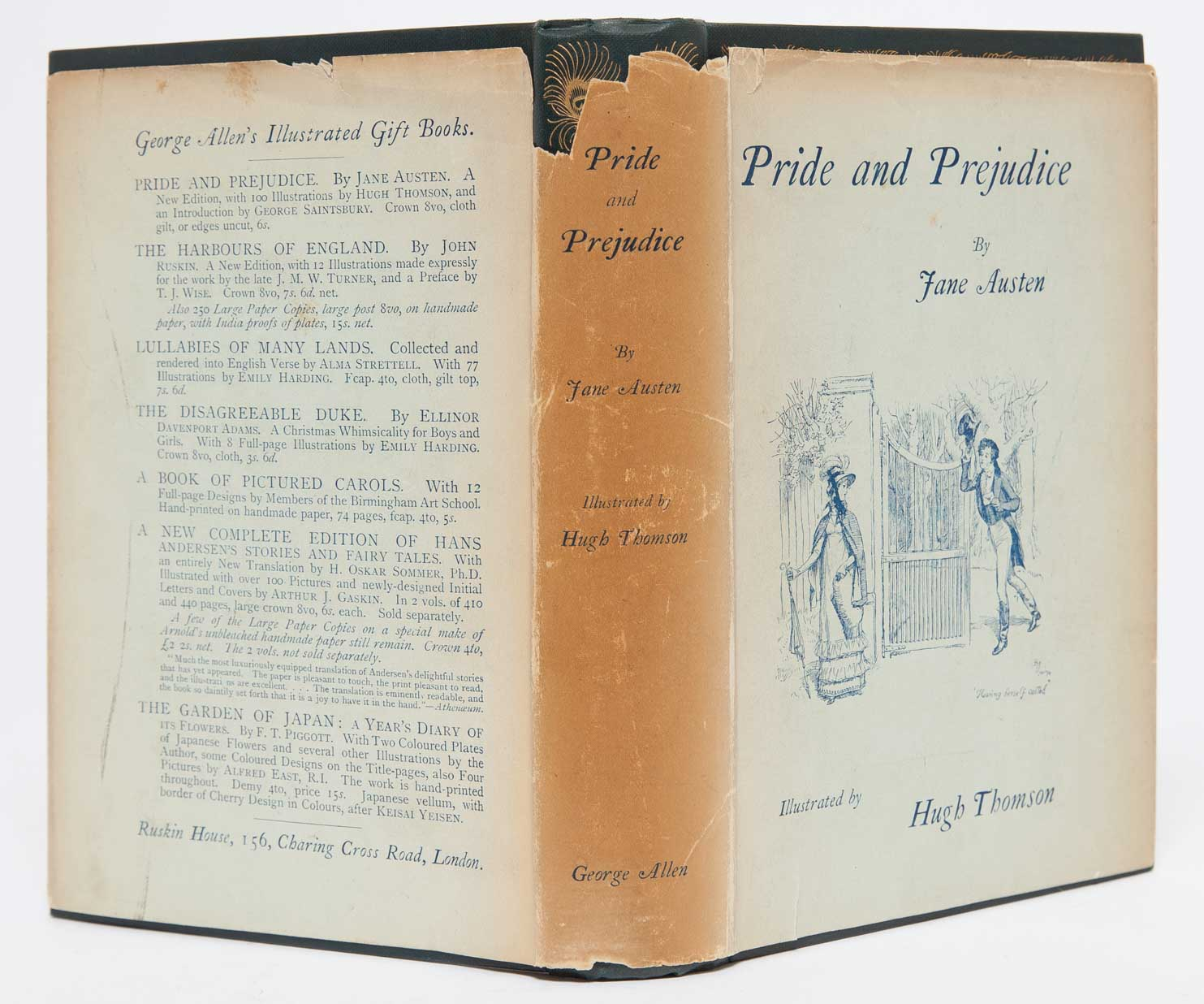 pride and prejudice in dust jacket jane austen illustrator hugh