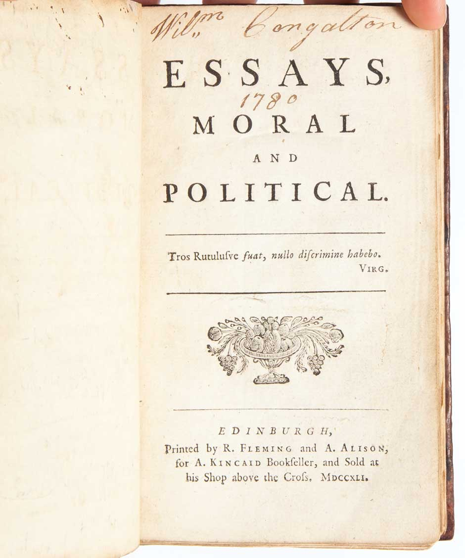 david humes essays moral and political 1742 Popular basis of political authority chapter 2 | document 4 david hume, of the original contract  essays moral, political and literary 1742, 1752.