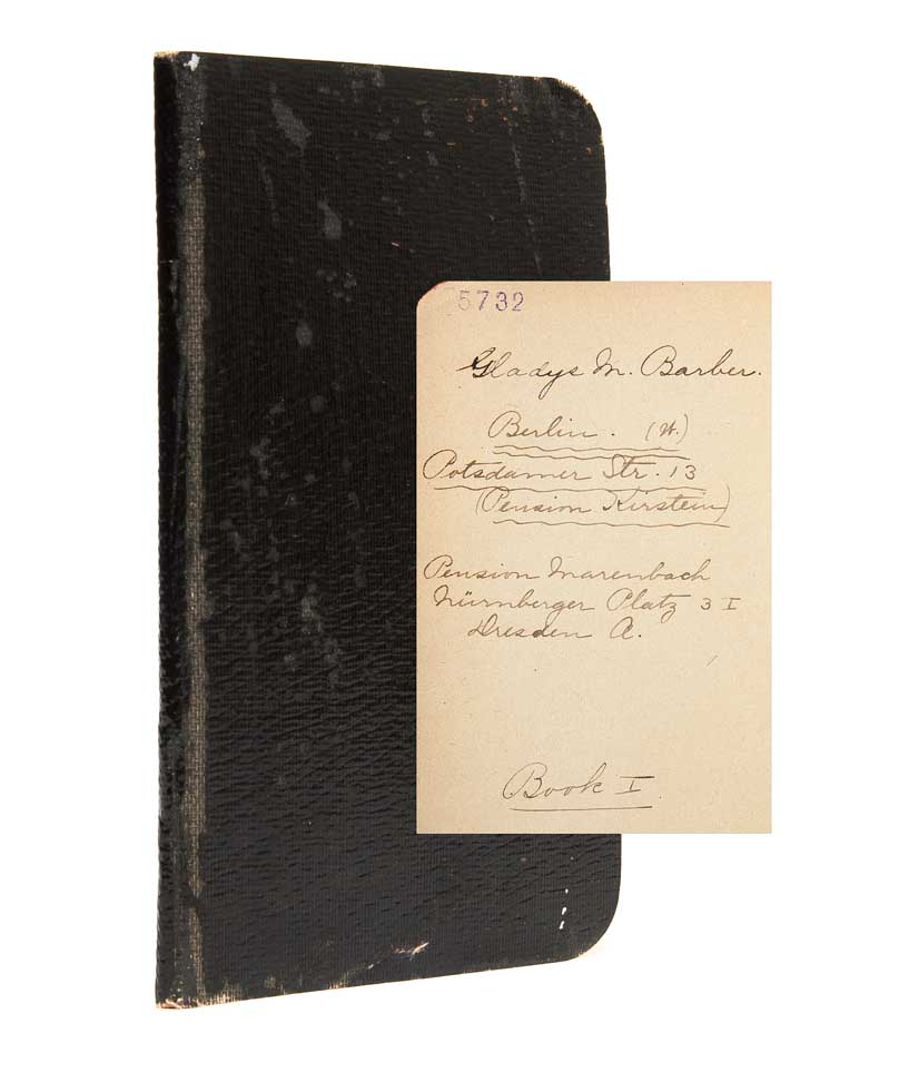 Books Found League Legas Repair Black Red M Diary Gladys Barber 1908 Travel Of An American Woman College