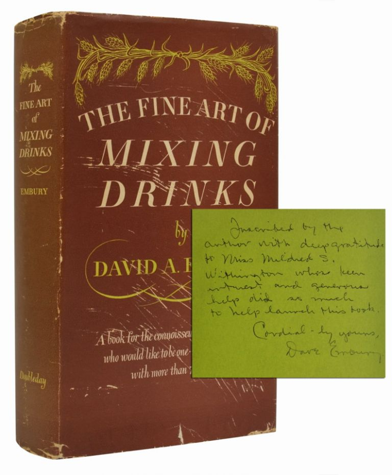 The Fine Art of Mixing Drinks (Inscribed early printing)