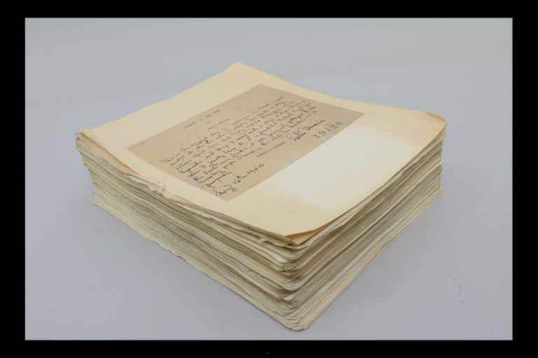 "The Author's Original Typed Manuscript for ""Journey in the Dark."" Martin Flavin."