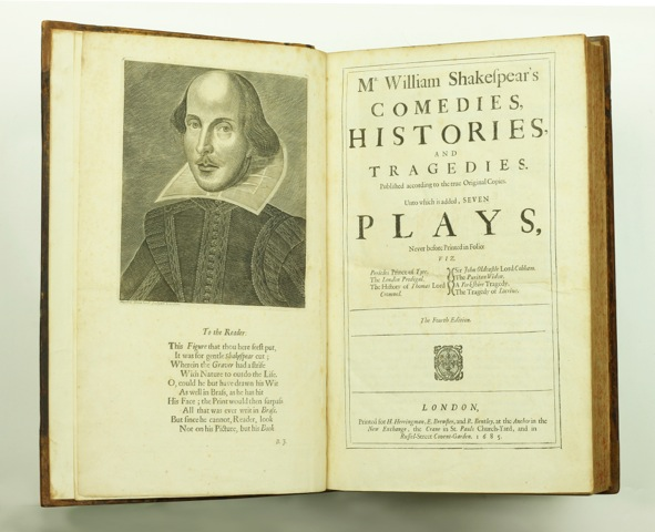 Comedies, Histories and Tragedies. Published according to the true Original Copies. Unto which is added seven plays never before printed in folio. William Shakespeare.