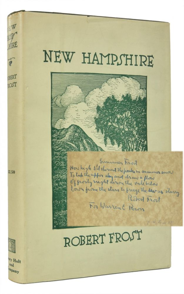 New Hampshire (Inscribed First Edition). Robert Frost.