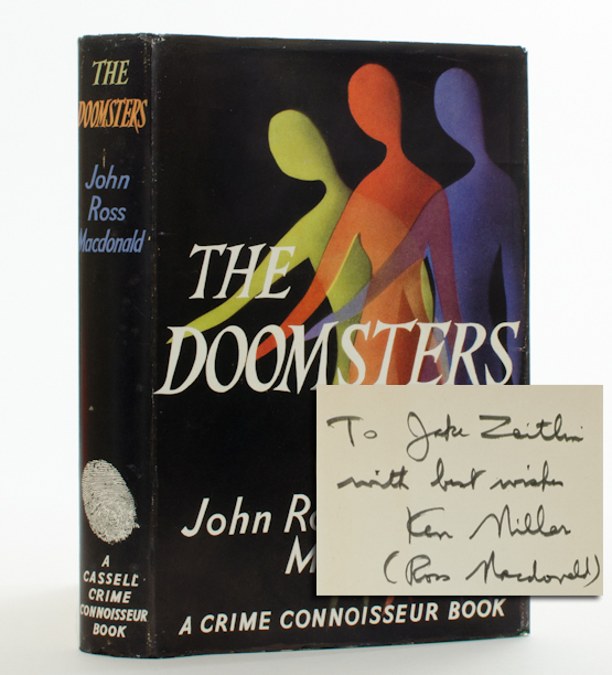 The Doomsters (Inscribed First Edition). John Ross Macdonald.