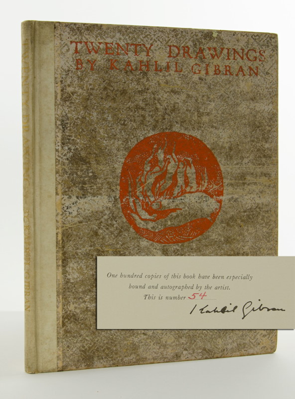 Twenty Drawings (Signed limited edition). Kahlil Gibran.