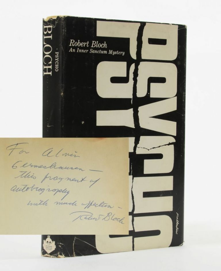 Psycho (Association copy). Robert Bloch.