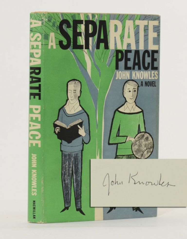 A Separate Peace (Signed first edition). John Knowles.