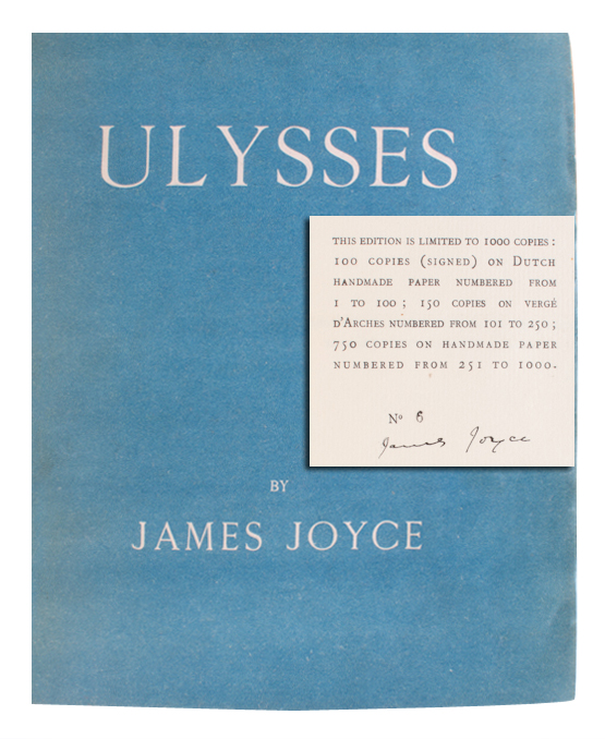 Ulysses Signed James Joyce First Edition