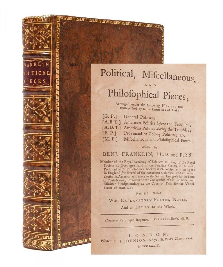 Political, Miscellaneous and Philosophical Pieces...