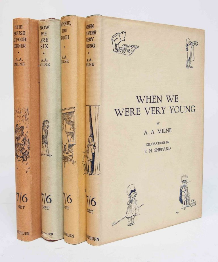 THE POOH BOOKS, Including: When We Were Very Young; Winnie-the-Pooh; Now We Are Six; and The House at Pooh Corner. A. A. Milne, illustrator E. H. Shepard.