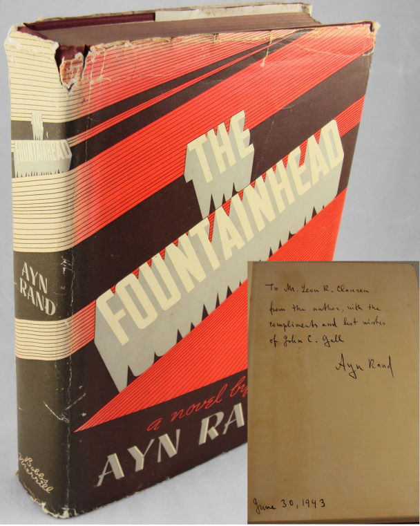 THE FOUNTAINHEAD (INSCRIBED FIRST EDITION). Ayn Rand.