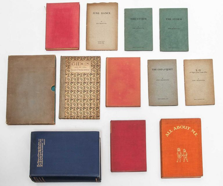 Small archive of 10 books inscribed for his wife and also signed by her. John Drinkwater.