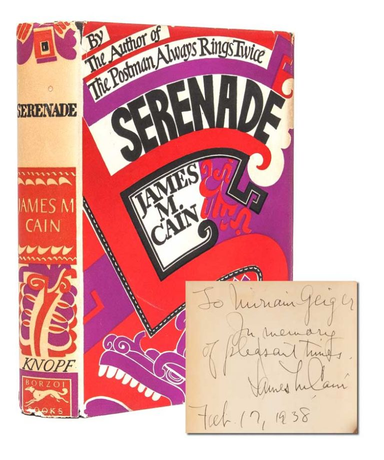 Serenade (Inscribed). James M. Cain.