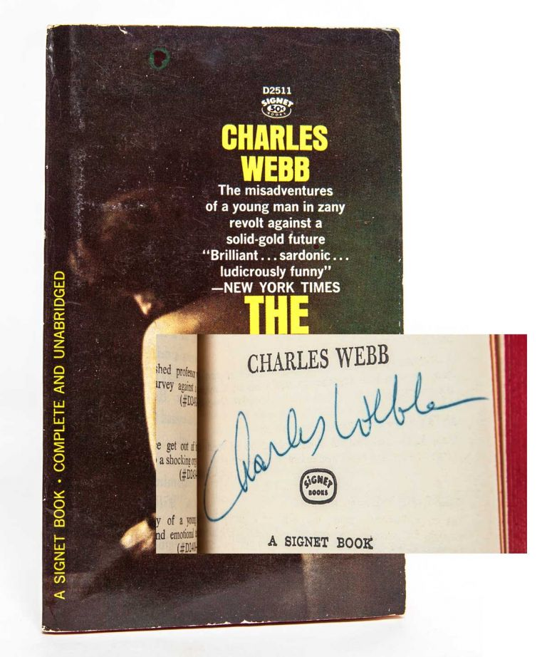 the graduate signed association copy charles webb first edition thus
