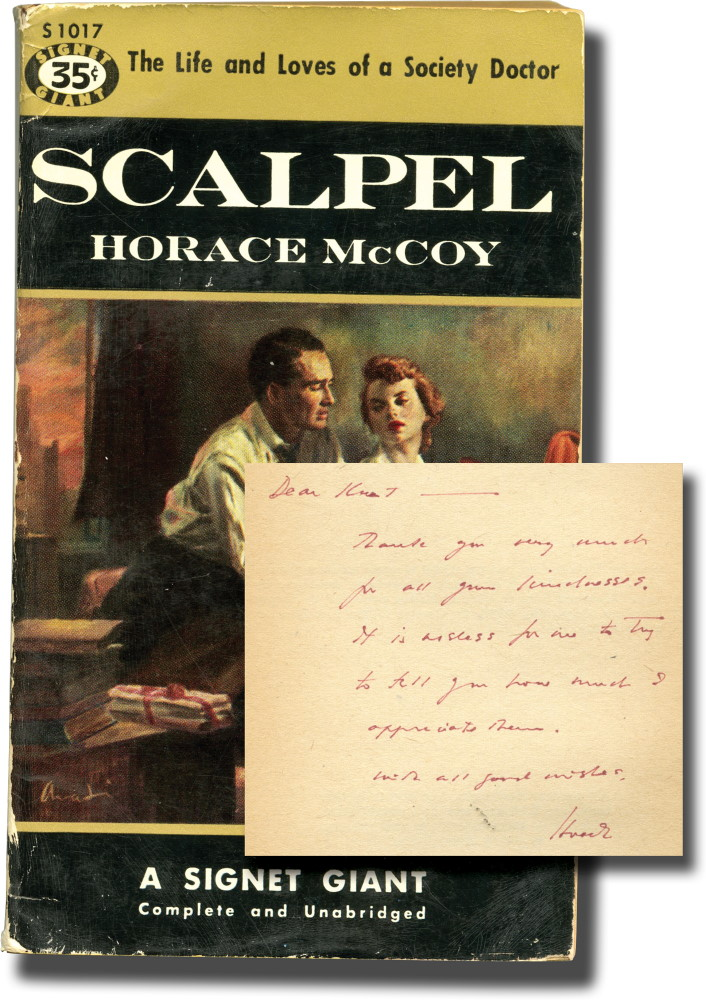 Scalpel (Presentation Copy). Horace McCoy.