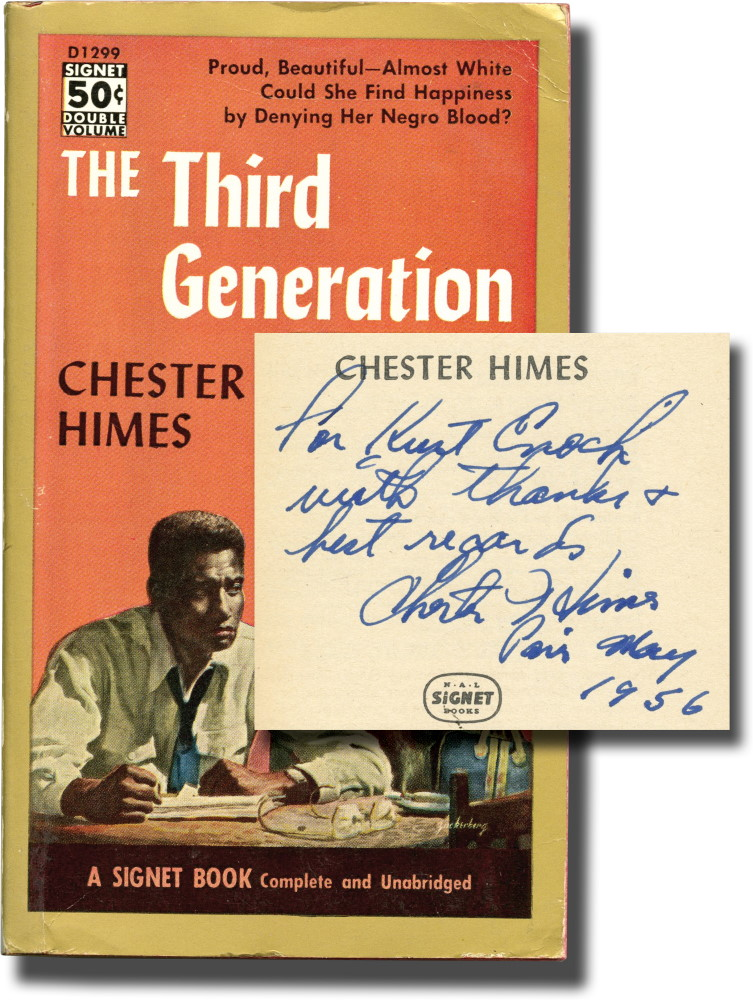 The Third Generation (Presentation Copy). Chester Himes.