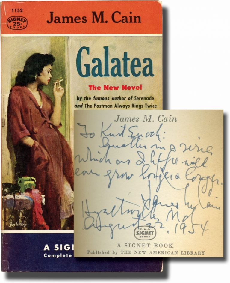 Galatea (Presentation Copy). James M. Cain.