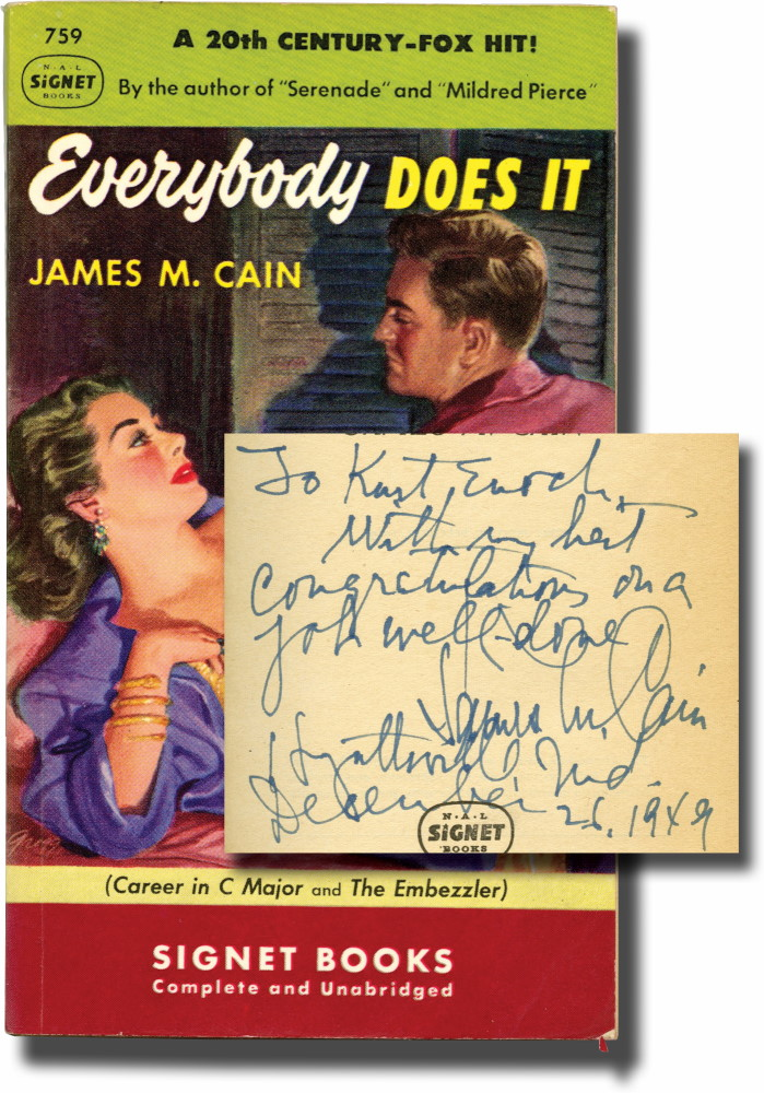 Everybody Does It (Presentation Copy). James M. Cain.