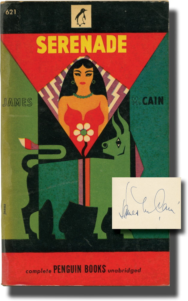 Serenade (Signed Association Copy). James M. Cain.