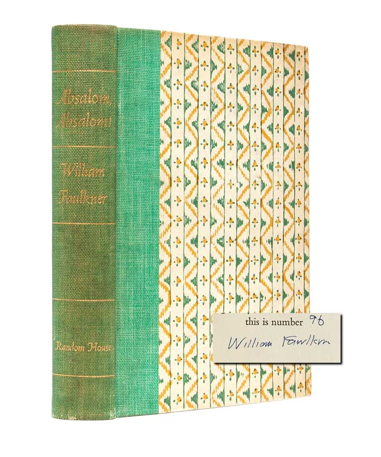 Absalom, Absalom! (Signed Ltd.). William Faulkner.