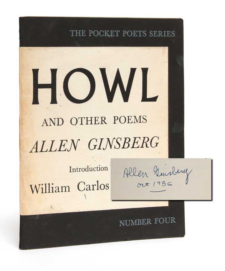 Howl (Signed first edition). Allen Ginsberg, Lawrence Ferlinghetti.