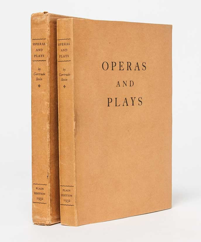 Operas and Plays. Gertrude Stein.