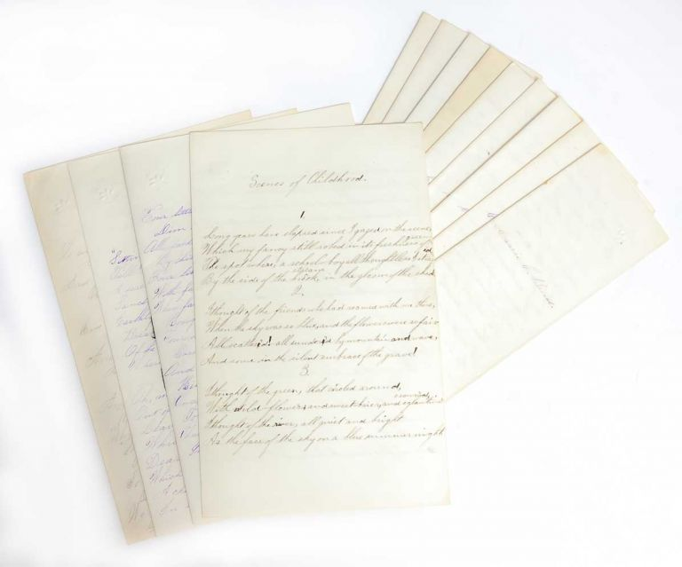 Manuscript school essays and literary excerpts from a young woman enrolled at Parker Academy, 1875-1879. Women's Education, Carrie Breed.