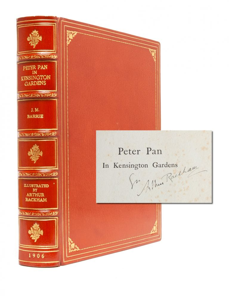 Peter Pan in Kensington Gardens (Signed by Rackham). Arthur Rackham, J. M. Barrie.