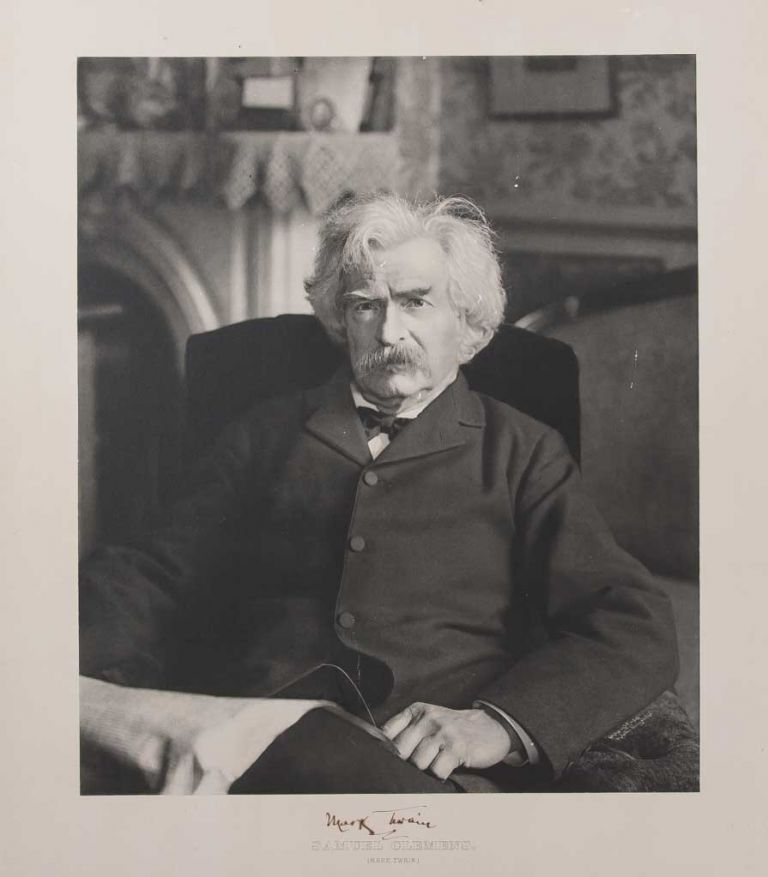 Large Signed Photograph Portrait of Mark Twain