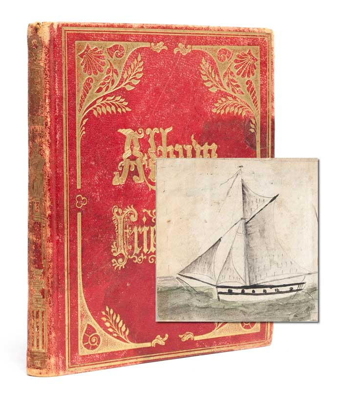Recording a young woman's fascination with the sea and the adventures it could provide. Commonplace Book, Louise A. Woods.
