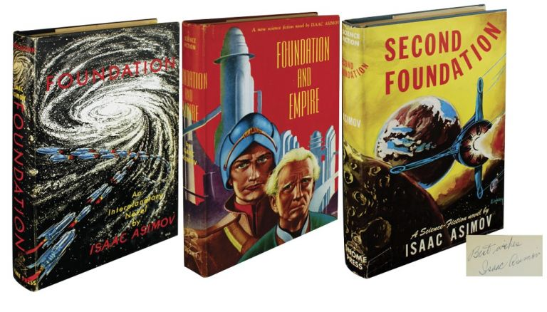 THE FOUNDATION TRILOGY, Including: Foundation, Foundation and Empire and Second Foundation (Book 3 Inscribed). Isaac Asimov.