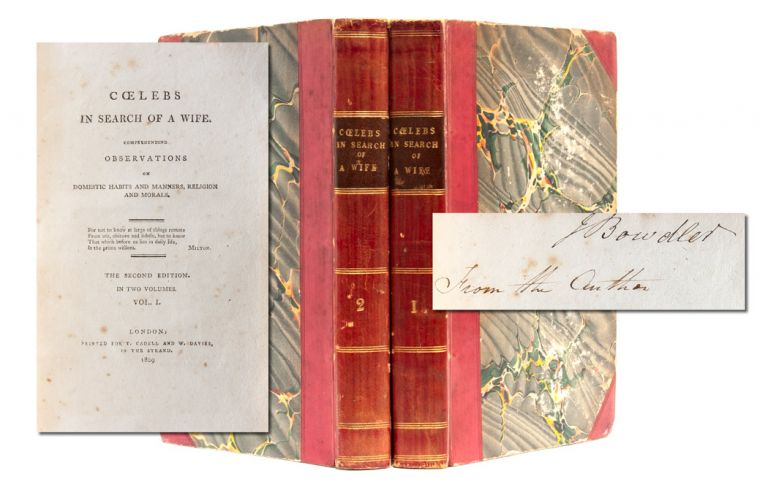 Coeleb's in Search of a Wife, Comprehending Observations on Domestic Habits and Manners, Religion and Morals (Association Copy)