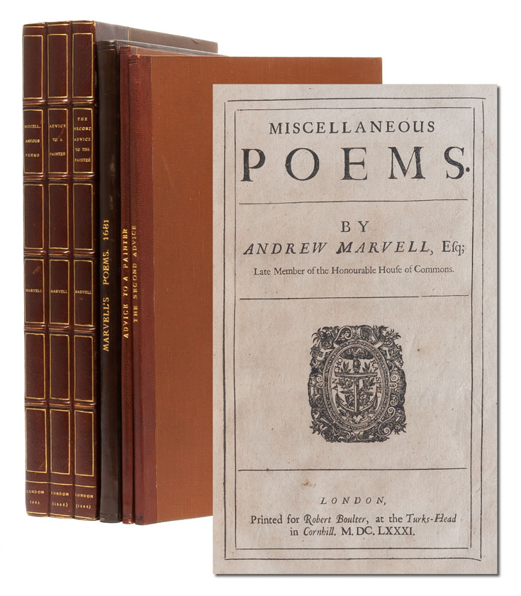 Miscellaneous Poems; [together with:] Advice to a Painter; [and:] Second Advice to the Painter. Andrew Marvell, Henry Savile.