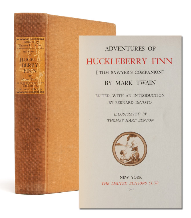 Adventures of Huckleberry Finn. Mark Twain, Thomas Harte Benton, Samuel L. Clemens.