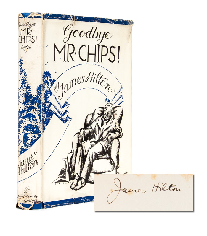 Goodbye Mr. Chips! (Signed First Edition). James Hilton.