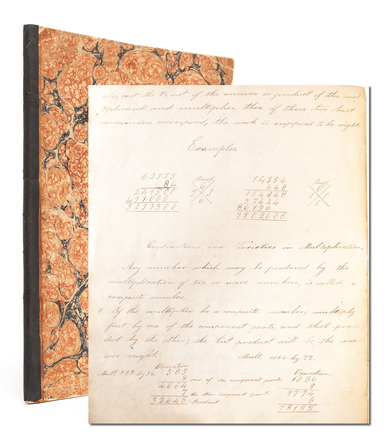 Mathematics notebook of a 19th century woman