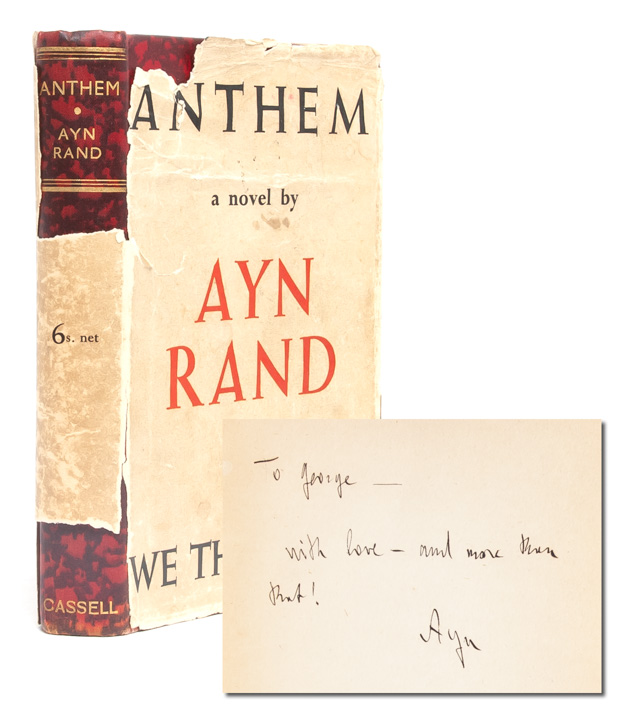 Anthem (Presentation Copy). Ayn Rand.