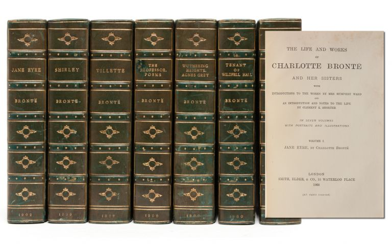 The Life and Works of Charlotte Bronte and her Sisters with Introductions to the Works by Mrs. Humphry Ward (in 7 vols.). Bronte Sisters.