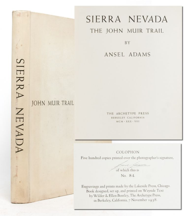 Sierra Nevada: The John Muir Trail (Signed Ltd.). Ansel Adams.