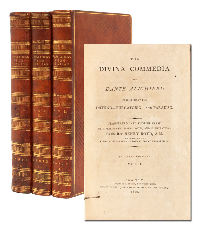 The Divina Commedia of Dante Alighieri, Consisting of the Inferno - Purgatorio - and Paradiso. Dante Alighieri, Rev. Henry Boyd.