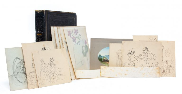 Literary and artistic commonplace book, owned by a young woman with connections to Washington...
