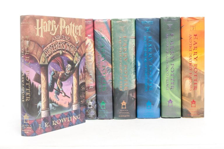Complete Harry Potter Series, Including: Harry Potter and the Sorcerer's Stone; Harry Potter and the Chamber of Secrets; Harry Potter and the Prisoner of Azkaban; Harry Potter and the Goblet of Fire; Harry Potter the Order of the Phoenix; Harry Potter and the Half-Blood Prince; Harry Potter and the Deathly Hallows. J. K. Rowling.