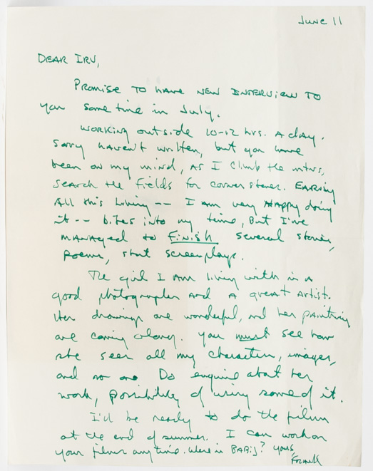 Autograph Letter Signed to his publisher about finding balance between his day job and his writing