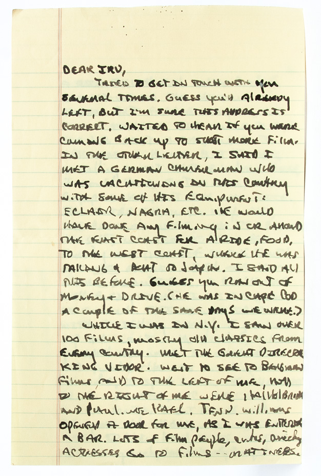 Autograph letter signed to his publisher documenting his travel in New York working on The...