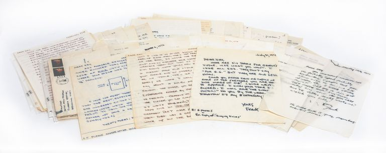 The largest known collection of Frank Stanford letters, with content on his poetic process,...