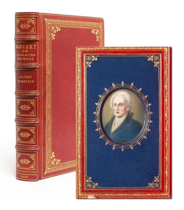 Mozart: His Character, His Work [Cosway style binding]. trans. Arthur Mendel, Nathan Broder.
