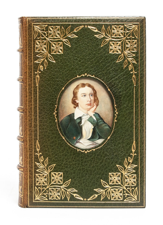 John Keats: His Life and Poetry, His Friends and Critics, and After Fame [Cosway style binding]. Sydney Colvin.