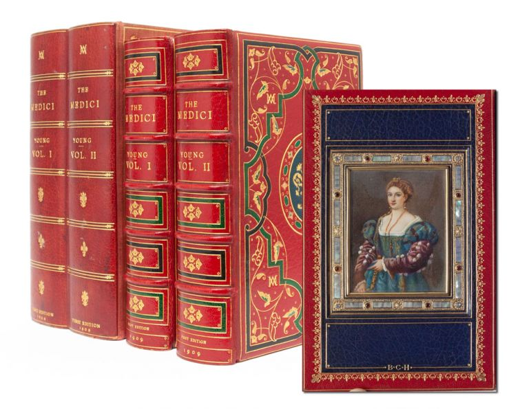 The Medici (in 2 vols). Cosway style binding, Colonel G. F. Young.